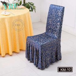 호박단 폴리에스테 상보를 가진 원탁 사용 테이블 리넨 그리고 의자 덮개
