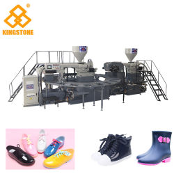 Automatische het Vormen van de Injectie van Twee Kleur Machine om de Laarzen van de Regen van de Schoen van het Sandelhout van de Pantoffel in het Plastic Materiaal van pvc Te maken