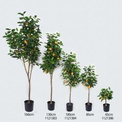 1121382 Planta artificial de Lemon Tree de simulación alta decorativos Limonero de paisaje