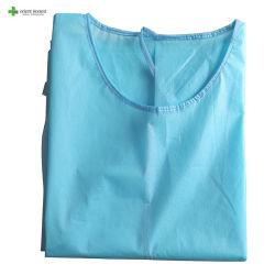 編まれた袖口の超音波継ぎ目が付いているレベル2のDispoasble PP/PEの手術衣