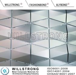 PVDF Pet Aluminium Composite Panel 3D Design Nano Beschichtung für Innenwand