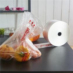 HDPE-LDPE-materielle flache Shirt-Weste-Griff-Nahrungsmittelpaket-Beutel für Lebensmittelgeschäft oder Supermarkt