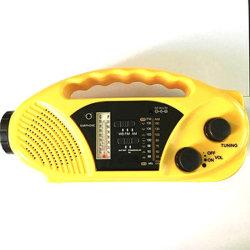 La luz de emergencia LED del cargador de móvil AM/FM/BM dínamo solar de la banda de radio