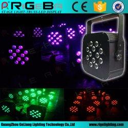 Alta potencia 10W*12pzas RGBW 4-en-1 plana LED PAR puede en el estadio del club de noche de fiesta