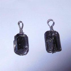 Piedra semipreciosa de moda cristal de piedras preciosas perla colgante de turmalina negro