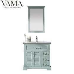 Vama 36 pouces dissipateur simple classique antique Salle de bains de couleur verte Cabinet 783036