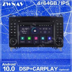 IPS Carplay 2 DIN Android 10 écran de Mercedes Benz B200 classe B W245 B170 Audio Stéréo Auto Radio lecteur multimédia de l'unité de tête