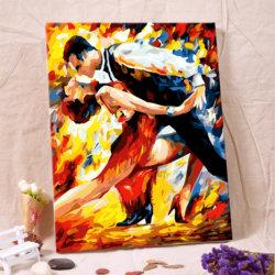 Pittura a olio del ritratto di arte tramite la pittura a olio del Numbers Digital su tela di canapa