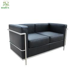 Los asientos dobles seccional Le Corbusier Sofá Sofá De Cuero LC2