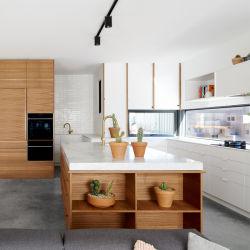 De houten Kast van de Keuken van de Lak van Laminaten Keukenkasten Gemengde