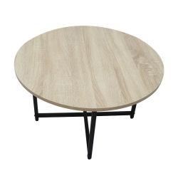 Дешевые цены на заводе прямой продажи № 2450 простая конструкция деревянные металлические круглого стола кофе диван таблицу со стороны