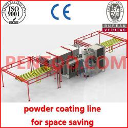 La línea de revestimiento en polvo transversal con espacio limitado de aluminio con patente