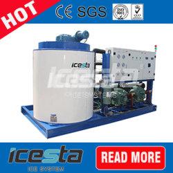 Icesta 10t Preis-kommerzieller industrieller Flocken-Eis-Hersteller für die neue haltene Supermarkt-Fleischverarbeitung