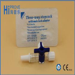 Uso médico de tres vías de PVC de la llave de paso