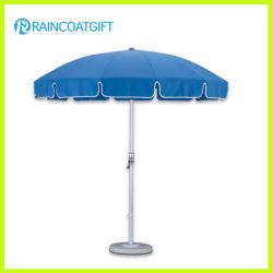 Poste de aluminio exterior azul sombrilla