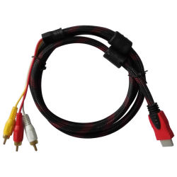 Кабель HDMI TV кабель 1,4 В нейлоновой оплетка кабеля HDMI разъем 3кабель RCA