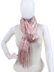personalizado OEM Mulher Cashmere Acrílico Controlos Tartan roubou lenço xale