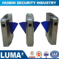 Canal duplo mecanismo semiautomático e girando omovimento de barreira para dispositivos biométricoscheio