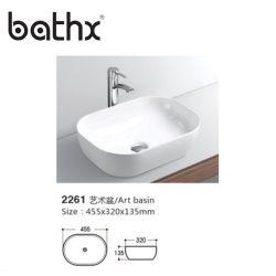 Ciotola artistica di ceramica del bacino di vendita degli articoli della stanza da bagno del Lavabo della mano sanitaria calda della lavata