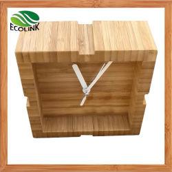 Home DecorativeのためのタケSmall Desk Clock/Table Clock
