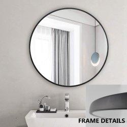 La decoración del hogar de alta calidad el cuarto de baño negro de 4mm de bronce dorado metálico de pared espejo enmarcado con un lazo