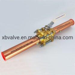 Messingkugelventil des Sauerstoff-chemisches Gas-3PC mit kupfernem Gefäß