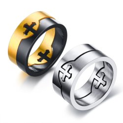 مجوهرات نمو رجال [ستينلسّ ستيل] صليب كاثوليكيّة سبحة حلق