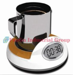 4 Nabe Kanäle USB-2.0. U. Becher Cup Coffee Warmer Heater mit Calendar/Clock