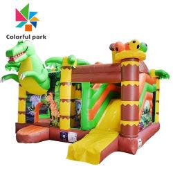 Популярный коммерческий открытый замок детские надувные Bouncer прыжком Combo нагнетателя воздуха для сгорания