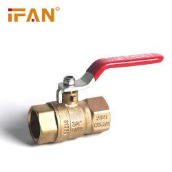 Fabrik-Messingbefestigungen 1/2 3/4 1 1-1/4 1-1/2 Griff-Doppelt-Außengewinde-Kupfer-Kugelventile 2 Zoll-81063 rote für Gas und Wasser