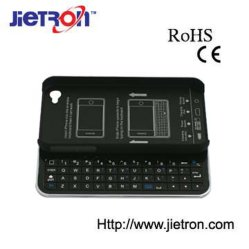 Clavier coulissant sans fil Bluetooth + coque rigide pour iPhone 4/L'iPhone 4S (JT-6008403)