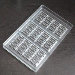 Molde de plástico para el nuevo diseño de la bandeja de dulces de plástico de la barra de chocolate