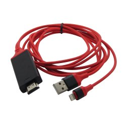 Blitz Fernsehapparat-Kabel-Adapter ZUM HandelsHDMI HDTV 1080P Digital für iPhone 7/6/5 Serie, iPad Luft/Mini/PRO