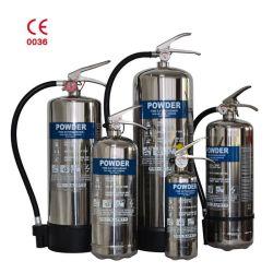 Gespeicherter aus rostfreiem Stahl Feuerlöscher des Druck ABC-trockener Chemikalien-Puder-40%
