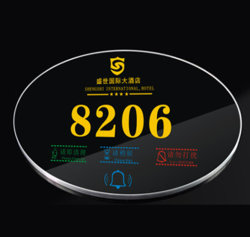 2016 Newest Innovative Product Hotel 또는 House Microlite Panel Electronic Number Plaque/Doorplate