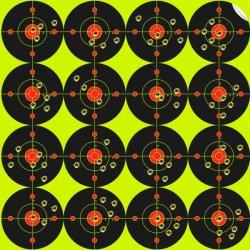 Reagierender Bullauge-Schießen-Papier-ZieleSplatter sprengte Leuchtstoffgelb