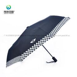 Parasol de plegado del logotipo de impresión personalizado