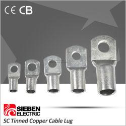 ケーブル接続のための工場Scのタイプ錫メッキされた銅ケーブルのラグナット