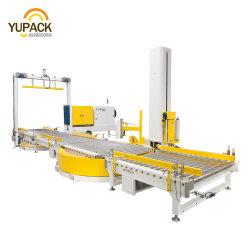 Автоматическая передача роликовый конвейер с вилами для поддонов Проденьте ремешок полосы стретч пленки термоусадочной оболочкой упаковку пакет упаковки упаковочные машины