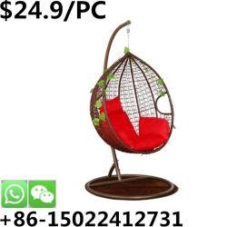 顧客用屋内バルコニーの金属の庭の余暇の卵の振動椅子