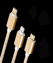 3 in 1 Arbeitsweg Aufladeeinheit USB-Kabel-/8pin-/Micro/Type-C im Freien