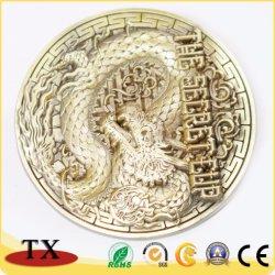 Moneta Bronze impressa in lega di zinco di sfida della medaglia del totem del drago