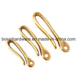 Твердые латунные рыб и пружинное стопорное крюк на цепочке для ключей