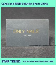 習慣の熱押すホイルおよび紫外線コーティングが付いているプラスチックギフトのカード