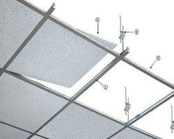 Akoestische Decoratieve Minerale vezel wol drop plafond tegels voor school