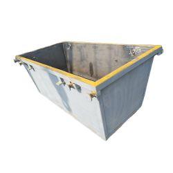 Overband 3000L à l'extérieur en métal de rebut de l'acier Skip bacs de recyclage des déchets métalliques Bin Conteneur de construction