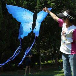 飛行の糸を持つ子供または大人のためのカスタムロゴ新しいデザイン蝶漫画の動物凧