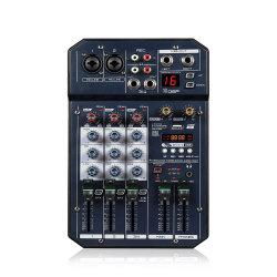 Som estéreo de karaoke pequenas 6CH Audio Mixer Misturador de música profissional com 16 DSP DJ Console Mixer de Áudio