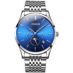 نمط تصميم زرقاء مزولة قرص [منس] رفاهية ساعات وسوار مجموعة لأنّ رجال يغطس ساعة