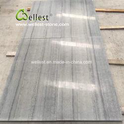 Veine en bois bleu pour l'Hôtel des revêtements de sol en marbre/revêtement mural dalle